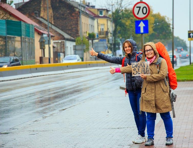 Auto stop à Cracovie